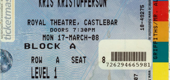 Kristofferson concert ticket Castlebar