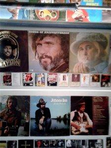 Kris Kristofferson pictures on wall